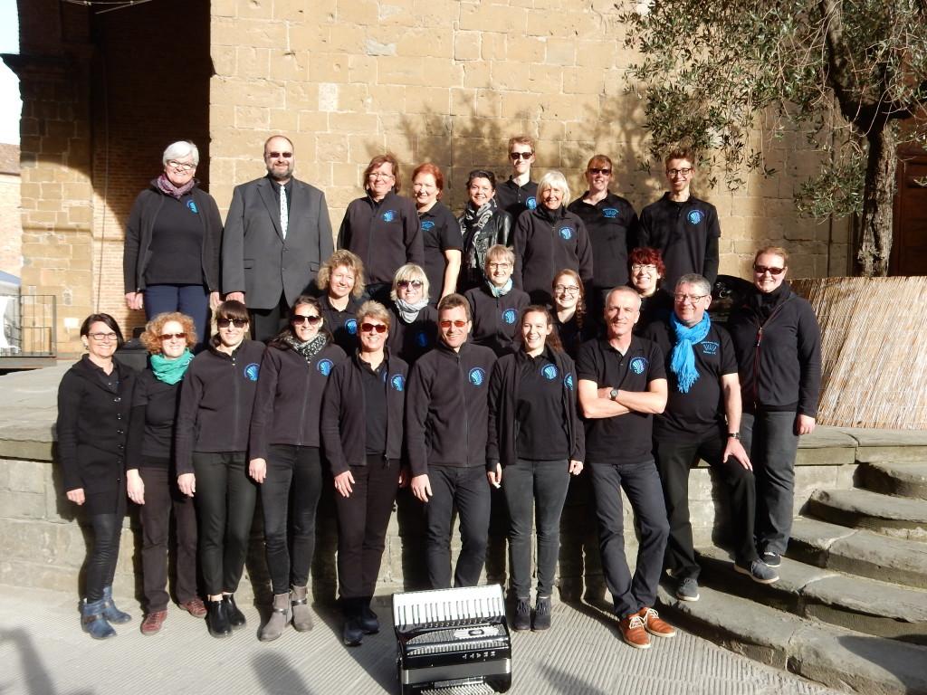 Akkordeon-Orchester Denzlingen/Sexau nach dem Konzert in Pieve